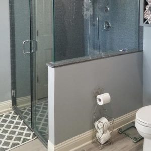 Barrier-free shower and toilet